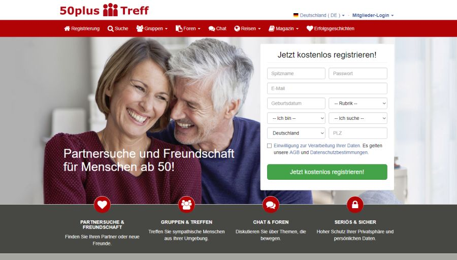 Beste website für dating bei 50